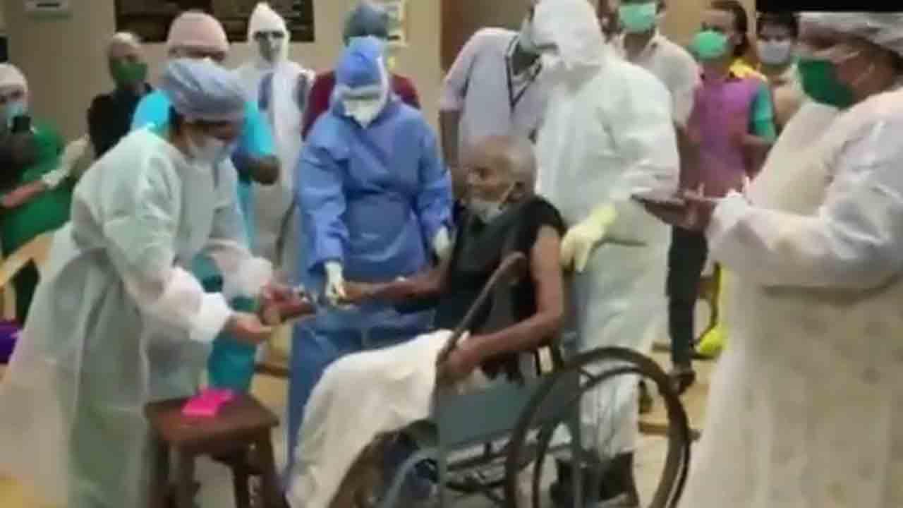 ಸಾವಿಗೇ ಸೆಡ್ಡು ಹೊಡೆದು 101ನೇ ಬರ್ತ್ ಡೇ ಆಚರಿಸಿದ ಸೋಂಕಿತ ವೃದ್ಧ!