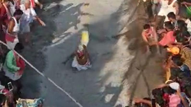 ramanagara priest fell down