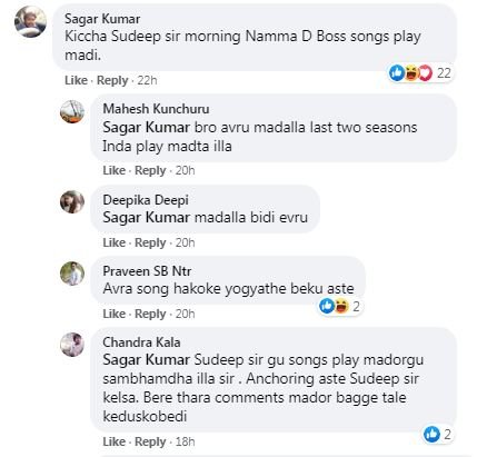 Darshan Fans Comment on Bigg Boss Post