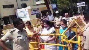 MES and Shiv sena Protest