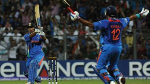 MS Dhoni's hits winning shot in 2011 WC