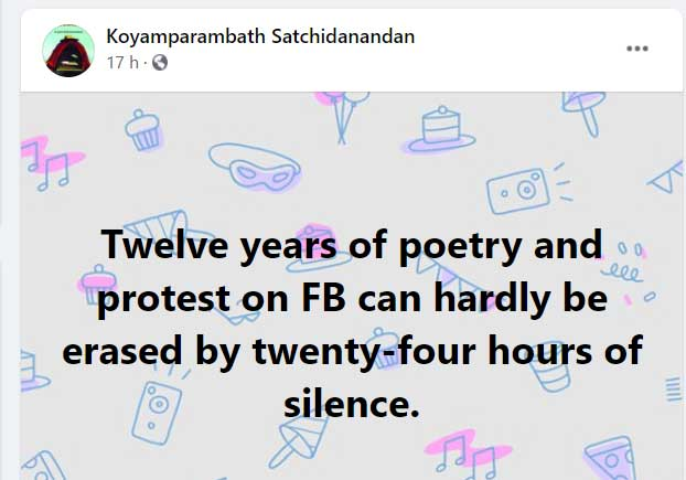 Satchidanandan post