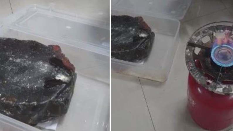 bengauru East Division Kg halli ps nab four persons and seize 6.7 Kg Ambergris from sperm whale worth rs 8 crore